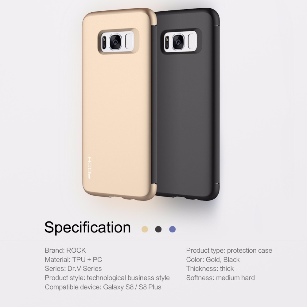 CellPhone Case Flip ROCK For Samsung Galaxy S8 S8 Plus DR V Protection Case  Full Screen Window Back Cover