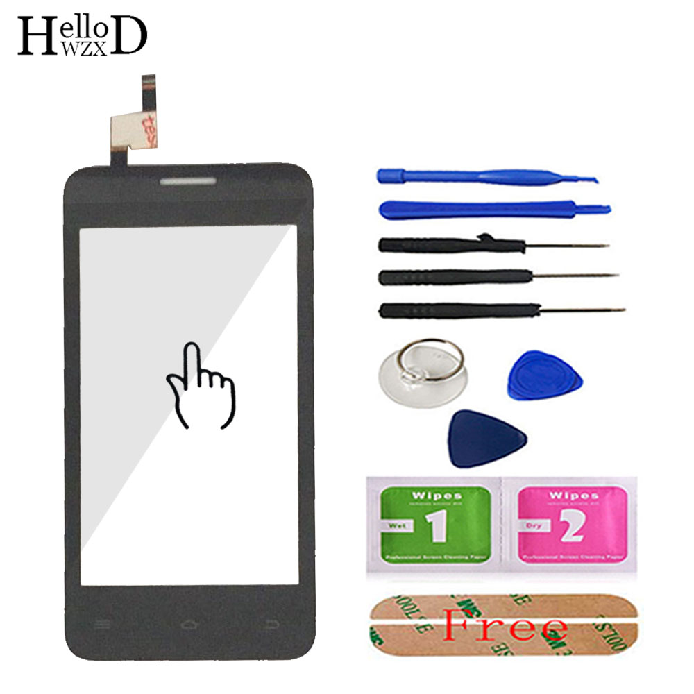 Phone Touch Panel Touchscreen For Fly FS401 FS402 FS403 FS451 FS452 FS454 Touch Screen Digitizer Glass Lens Sensor Adhesive