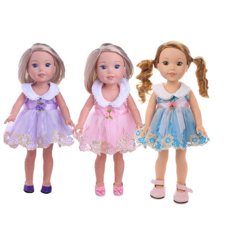 Wholesale drop shipping Skirt Dress For 14 inch Our Generation American Girl Doll Accessories For Doll S3JUN1