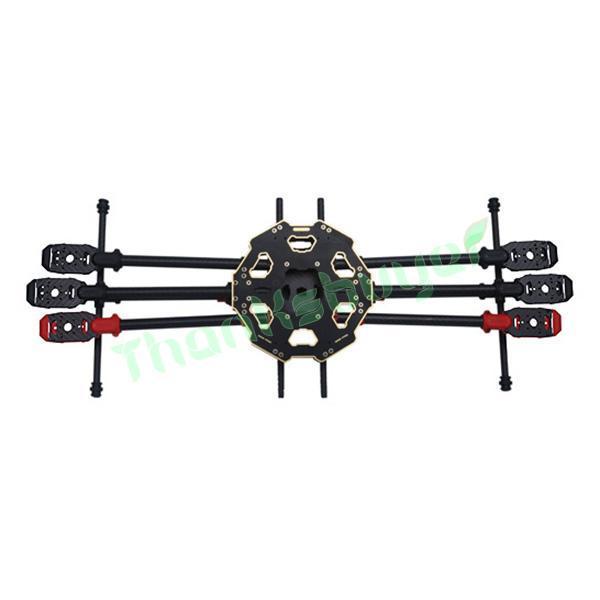 Tarot 680 Pro 3 K Pura Fibra De Carbono Completa Folding Hexacopter 680mm Kit Quadro Aeronaves FPV + Landing Skid