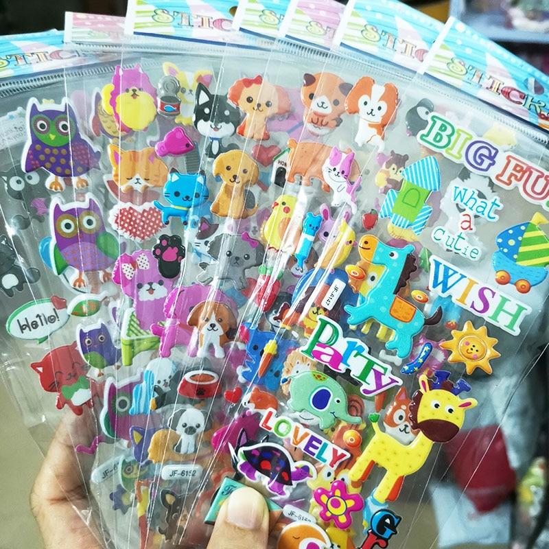 Kids Stickers 40 20 Different Sheets 3D Puffy Bulk Stickers for Girl Boy Birthday Gift Scrapbooking Teachers Animals Cartoon 3