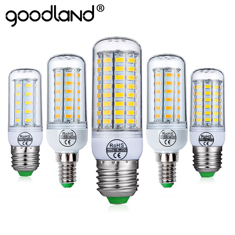 цена на Goodland E27 LED Bulb E14 LED Lamp 220V Ampoule Warm White Cold White 24 36 48 56 69 72 LEDs Corn Bulb for Home Lighting