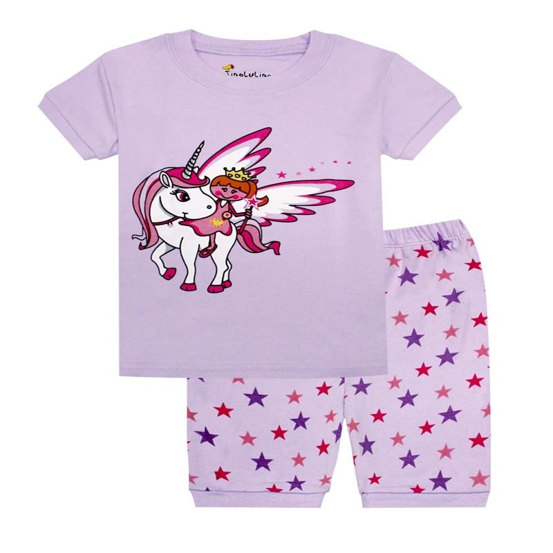 Klug Tinoluling Mädchen Einhorn Pyjamas Kinder Sommer Kleidung Baby Pyjamas Kinder Pyjamas Pijamas Für Mädchen Unicornio Kinder Kleidung GroßE Sorten