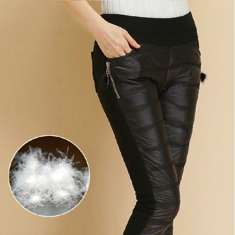 Women 2016 winter section down pants female wore slim thick trousers pants large yards warm cashmere casual pants 6 color S2838
