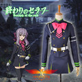 Seraph of the End Shinoa Hiragi Military Uniform with Cloak Cosplay Costume with Wig and Free Wig Cap Custom Made (W0661/W0021)