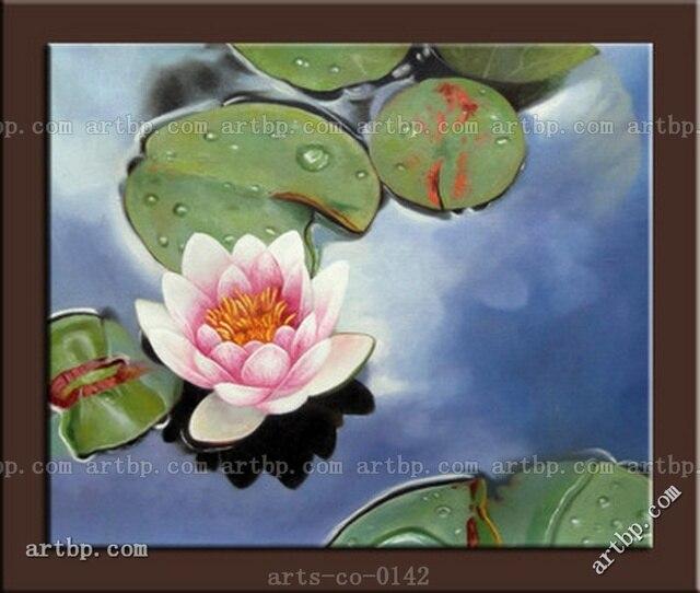 Original oil painting canvas modern art lotus flower african original oil painting canvas modern art lotus flower african american art large wall art free shipping mightylinksfo