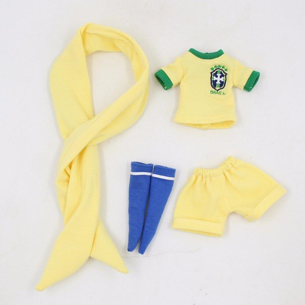 Neo Blythe Doll Brasil Football Team Uniform 2