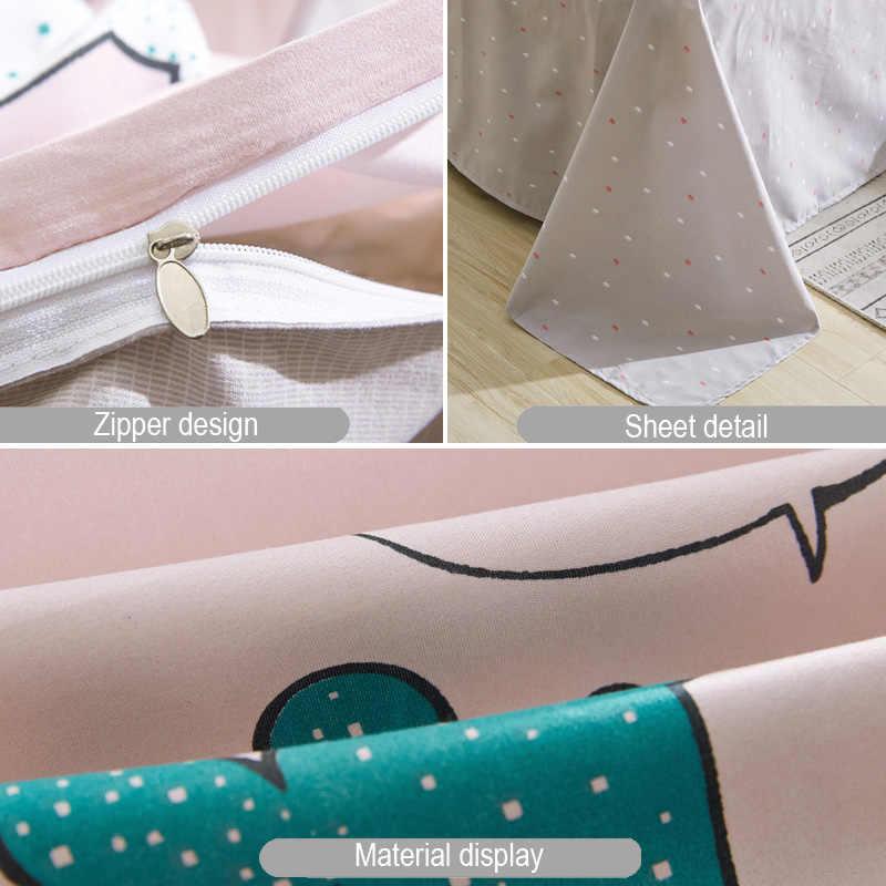 2019 zielony arkusz poszewki na poduszki i kołdra pokrywa zestaw duszpasterska pościel zestaw nowoczesne łóżko pościel lato jesień pościel 3 4 sztuk/zestaw dla dzieci zestaw