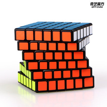 New QiYi Qifan 6x6x6 Magic Speed Cube Stickerless Professional Puzzle Cubes Educational Toys For Children shengshou 6x6x6 46mm speed magic cube puzzle game cubes educational toys for kids children birthday gift