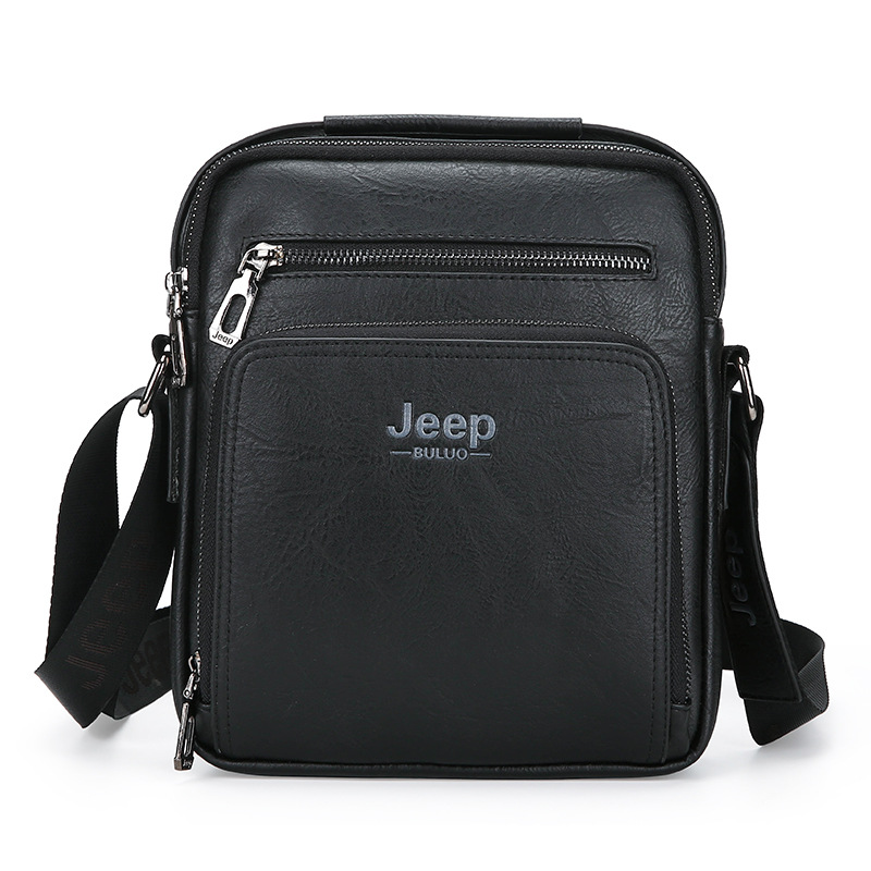 High quality JEEP BULUO Man Messenger Bag Men Pu Leather Shoulder Bags Business Crossbody Casual Bag Famous Brand