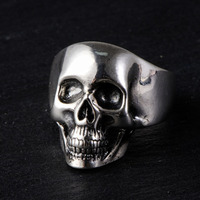 MAYONES 925 Silver Skull Ring New Punk Skeleton S925 Sterling Thai Silver Rings for Men Jewelry USA Size 8 11