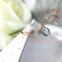 Ani 18 К розовое/белое золото (AU750) для женщин обручальное кольцо сертифицированные I/SI натуральным с бриллиантами прекрасно Обручение ювелирн