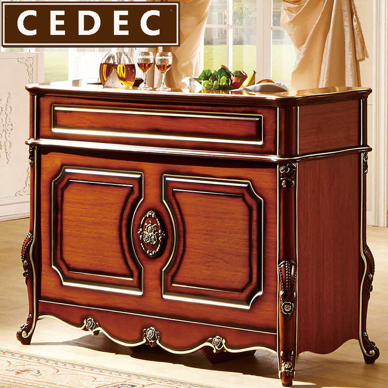 53 Long Traditional Cherry Finish Home Bar Counter Furniture Bar Unit Wine Rack Sink Drawers