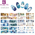 KADS BN313-324 Songs Of The Sea Design Cartoon Cute Full Cover Nail Art Water Wraps Sticker Decal For Nail Decoration