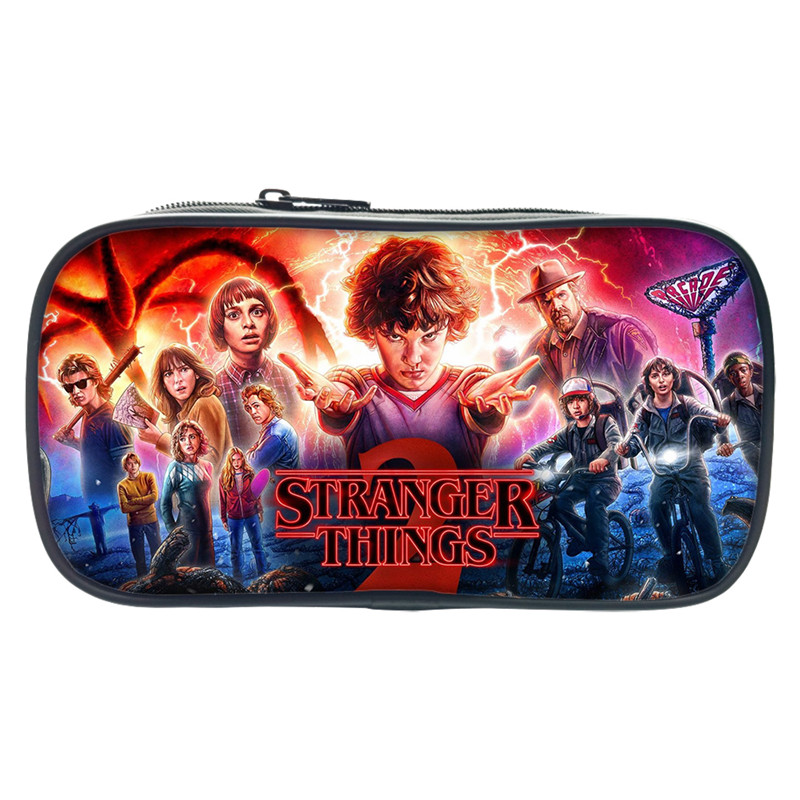 Pencil-Holder Pouch Cosmetic Stranger Things Travel Children Women Bags for Make-Up-Cases