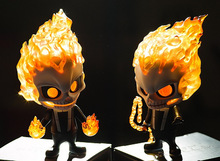 Tobyfancy Movie Ghost Rider Action Figure Skeleton Cosbaby Head Shake Ghost Rider PVC Model Collection Toy 10CM