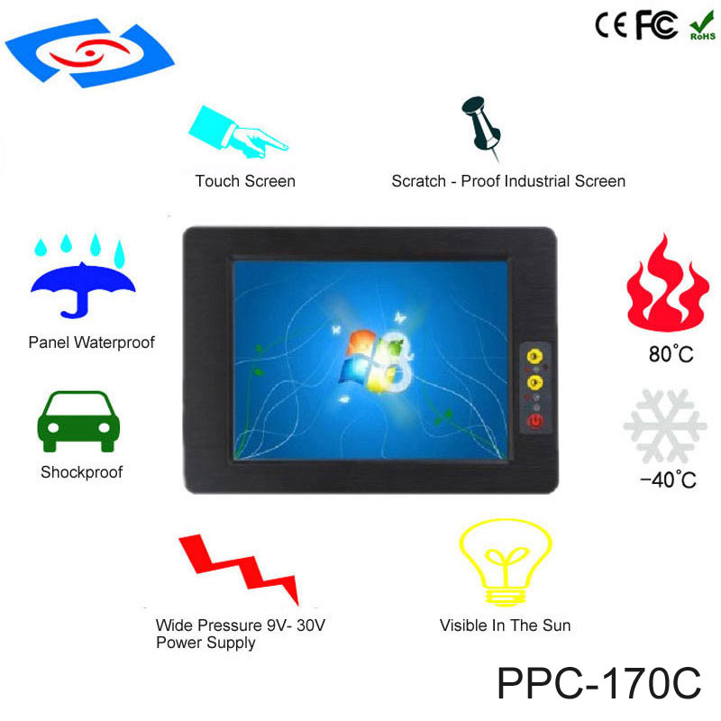 Low Cost 17 Inch Touch Screen Industrial Tablet PC IP65 Fanless Design With All In One Rugged Computer For Factory Automation