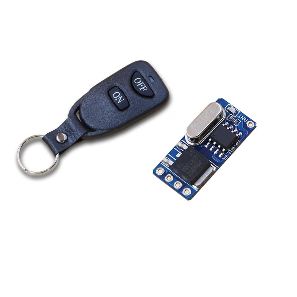 DC3.5v 3.7 v 5 v 6 v 7.4 v 8.4 v 9 v 12 v RF Sans Fil Télécommande Éclairage commutateur Système Émetteur + Récepteur 315 Mhz/433 MHZ