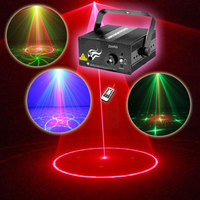 Mini Disco Party Laser Lights And Music Lumiere Dj Equipment Red Green 8 Patterns Night Club