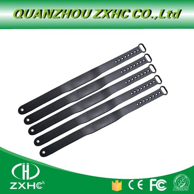 Pulsera impermeable de silicona ajustable, 5 unidades por lote, 125KHZ, RFID, TK4100