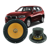 6.5 inch 40W Vehicle Loudspeaker Pure Copper Voice Coil Wire 4ohm Midrange Frequency Universal Sensitive Car Speaker