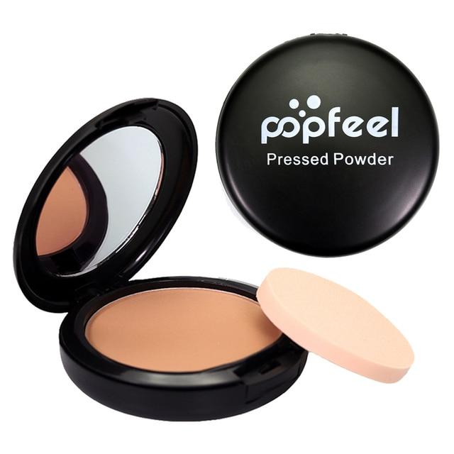 Poppfeel marca de maquillaje de cara prensada Maquiagem Batom cosméticos polvo de contorno de maquillaje abrillantador bronceador en polvo paleta de piel Finsh