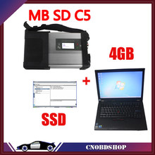V2019.07 MB SD Connect C5 Star Diagnosis with 240GB SSD Software Plus Lenovo T410 4GB Second Hand Laptop With DTS Monaco & Vedia(China)