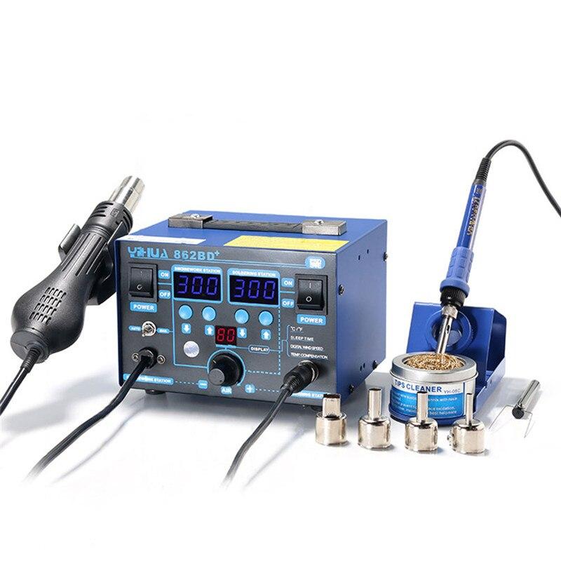 Station de soudure de pistolet à Air chaud de puissance élevée avec le réchauffeur importé utilisé pour la réparation de téléphone et la soudure 862BD