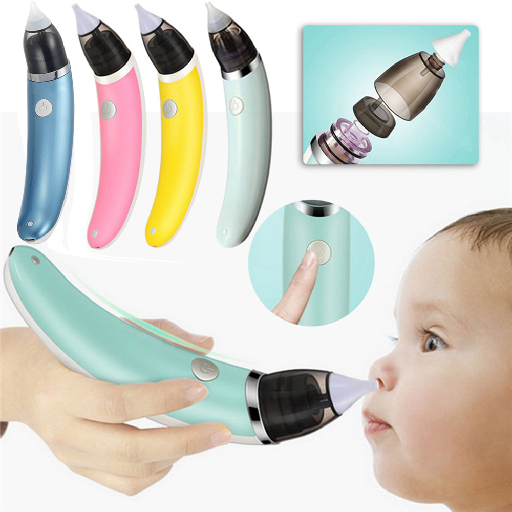Baby Nasal Aspirator Safety Electric Nose Cleaner 2 Size Baby Care Accessories Oral Snot Sucker For Newborns Boy Girls