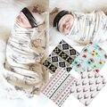 2 Pçs/set Swaddles + Headband! bebê Envoltório Swaddle Aden Anais Cobertor Musselina de Algodão Meninas Flor Berçário Cobrir AU