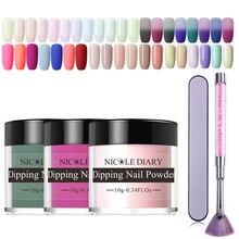 NICOLE DIARY 12pcs Dipping Nail Powder Kits Dip Nail