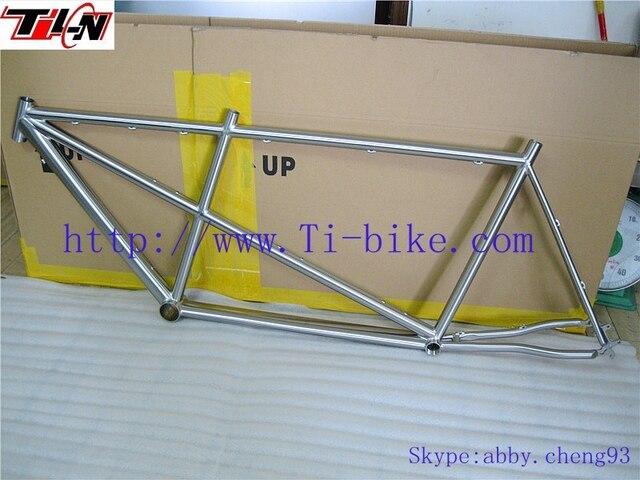 Por encargo de la fábrica incorporado de titanio tandem bike marcos ...