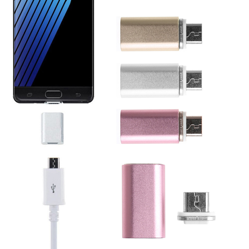 Drop Ship Magnetic Micro USB Adapter Charger Converter For Samsung Galaxy S6/Edge/Huawei For Android Phones Tablets