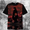 Anime cos Naruto cosplay t-shirt de manga corta de los hombres modelos amantes camiseta Naruto shippuden Kakashi Camiseta