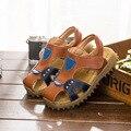Мужской и женский дермы детские кожаные сандалии 2017 летний новый Баотоу кожаные сандалии пляжные сандалии дети противоскольжения сухожилия при т