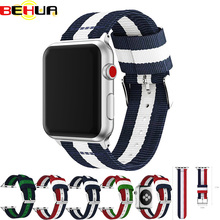 40mm 44mm band for apple watch Series 4 3 2 1 nylon woven strap iwatch classic styles colors pattern with adapters 38mm 42mm