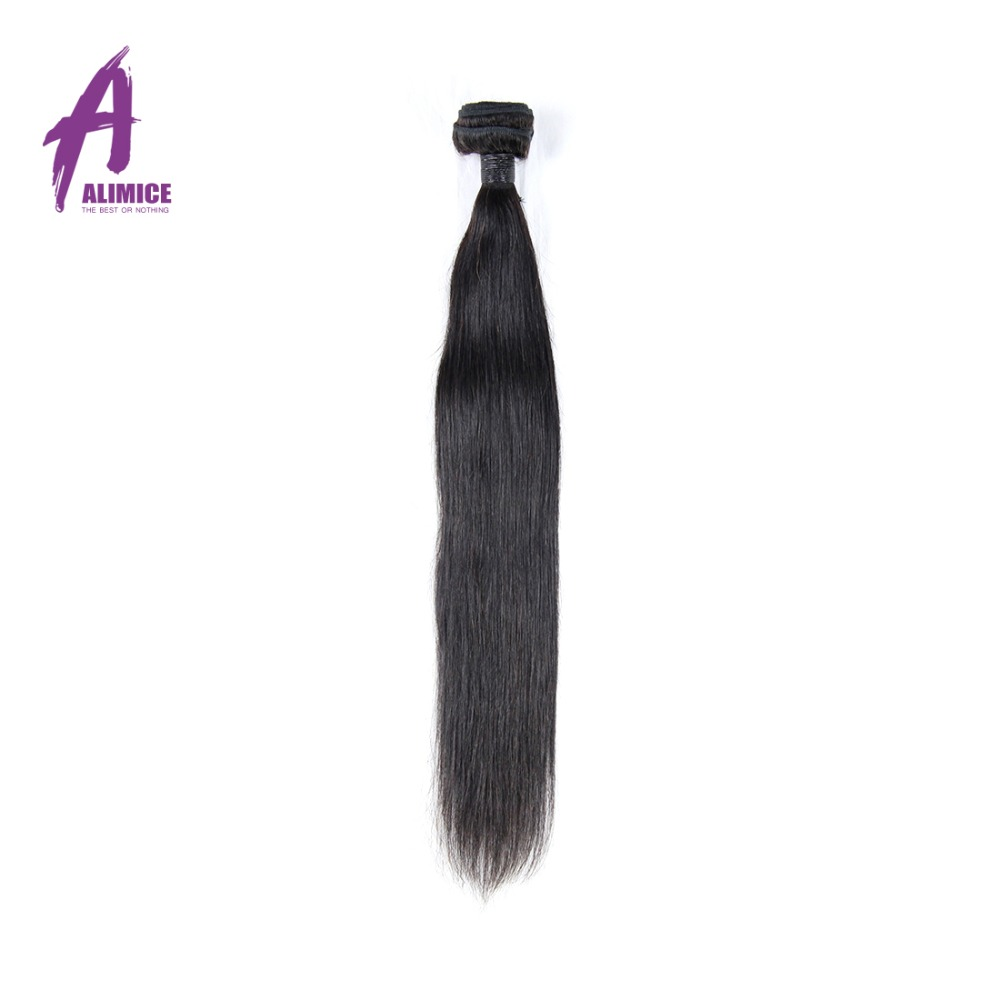 Straight perm products - Alimice Hair Brazilian Straight Remy Hair Weave Bundles 100 Human Hair Weaving 12 26 Inch Natural Color 1bundle Can Be Permed