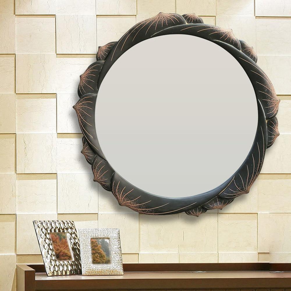 Bathroom mirror round wall hanging bedroom dressing vanity wall ...