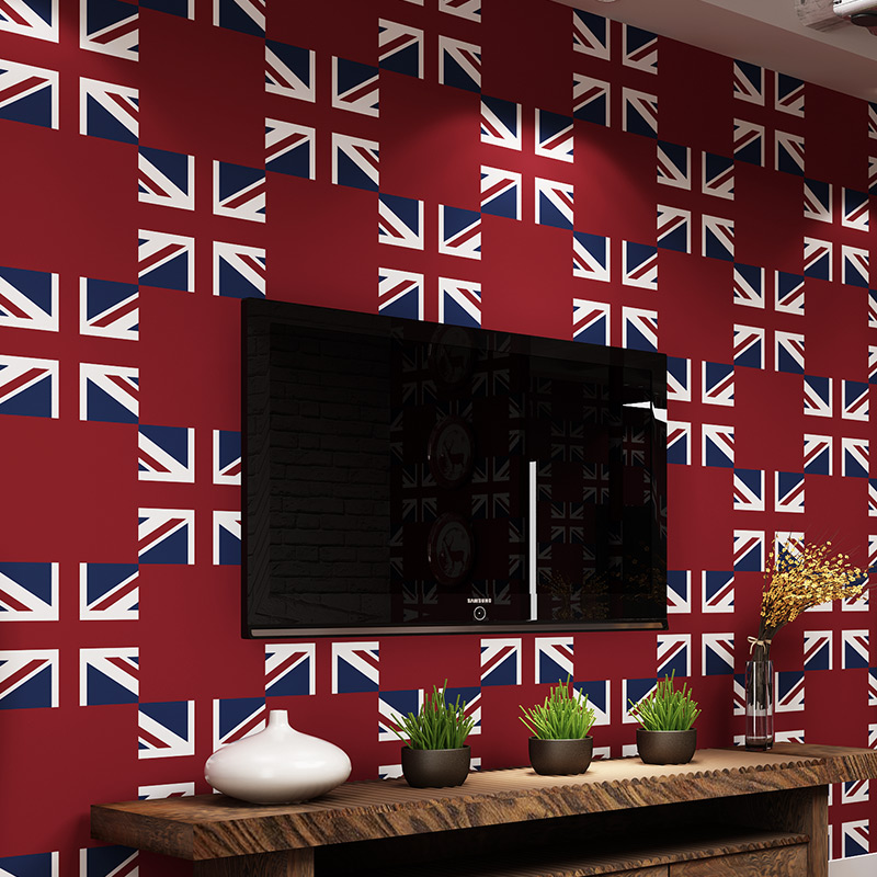 beibehang papel de parede Wallpaper shop for living room backdrop British style  flag pure paper bedroom wallpaper AB Edition beibehang papel de parede wallpaper shop for living room backdrop british style flag pure paper bedroom wallpaper ab edition