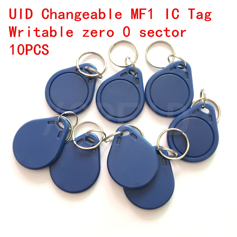UID Changeable Card Clone Copier S50 Chip Writable Zero 0 Sector 0 Block ISO 1443 Key Chains Key Tag With 13.56Mhz 10pcs super handheld rfid nfc card copier reader writer cloner with screen 5pcs 125khz writable tag 5pcs 13 56mhz uid changeable card
