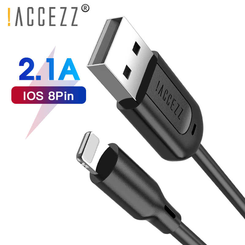 ! Accezz TPE Kabel Pengisian USB Lampu untuk Apple Iphone X XS Max XR 8 7 6 6 S PLUS 5 5 S SE Charge Data Kabel Charger Cord Line