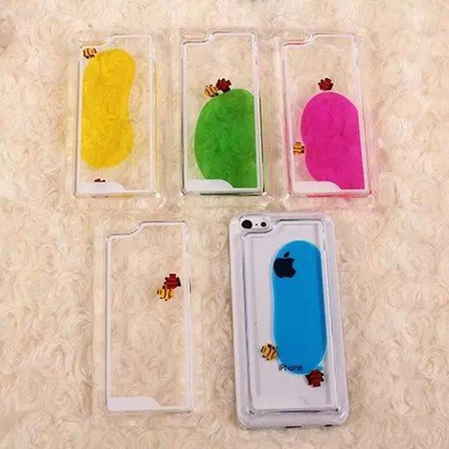 US $3 84 |For IPhone 6S Case Transparent Hard PC Cover Dynamic Liquid 3D  Cute Free Fish Back Case Cover Capa for Apple IPhone 6 6S-in Half-wrapped