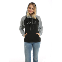 2017 New Arrival Hoody Sweatshirt Novelty Print Funny TITTIES BOOBS BOOBIES Streetwear Harajuku Brand Raglan Hoodies