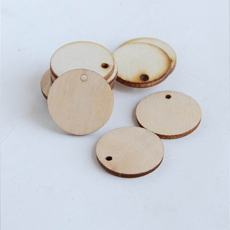 Earrings Pendant-Charms Jewelry-Making Round Natural Wood for Painting And Disc-Shape