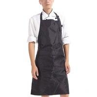 Kitchen Apron Women Men Long Anti Oil Aprons PVC Waterproof Cooking Aprons Adult Bib For Chef