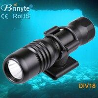 Brinyte DIV18 200M Underwater Lamp Led Dive Light CREE XML2 650lm LED Scuba Diving Torch Dive