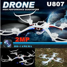 2016 New RC Quadcopter Drone UDIC 817 2.4GHz 4CH 6-Axis 360 Flip with 2.0MP HD Camera RTF High Speed RC Helicopter VS U842 X8C