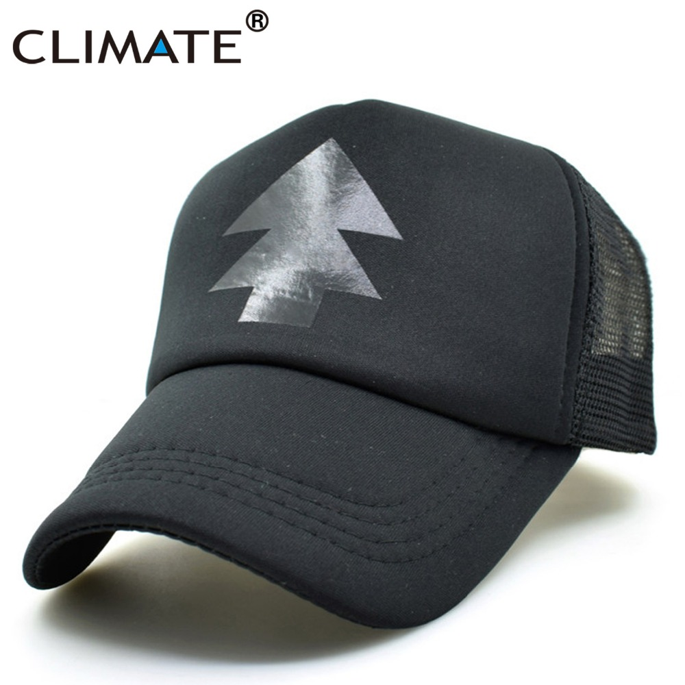 CLIMATE Gravity Falls Black Dipper Pines Summer Cool Caps Pines Bill Mabel Cool Cosplay Baseball Mesh Net Trucker Caps Hat