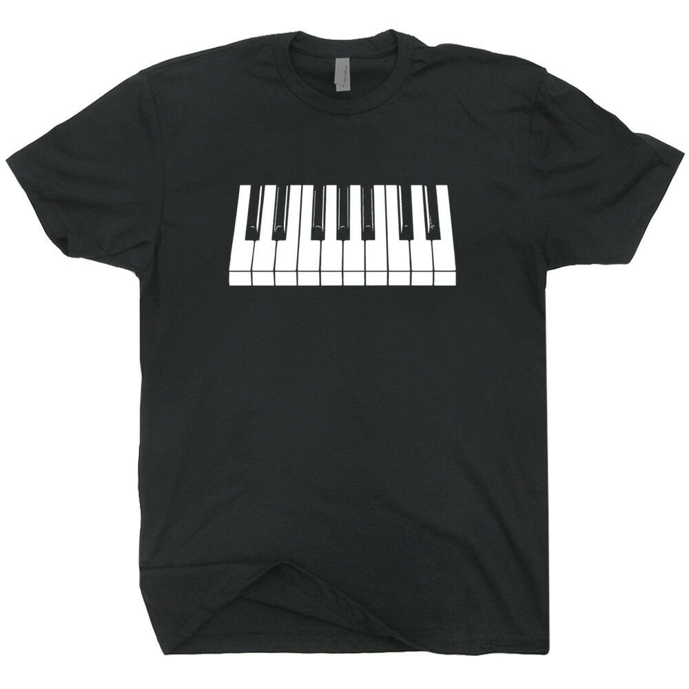 Piano Keyboard T Shirt Beethoven Mozart Keytar Keys Cool Pianist Player Gift Tee brand 2019 New Man Cotton Clothing T Shirt image