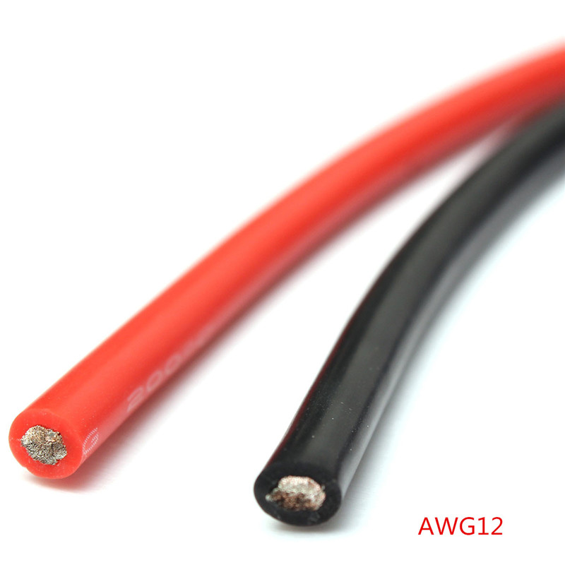 2pcs 1M AWG Electric Wires New Soft Silicone Flexible Wire Cable ...